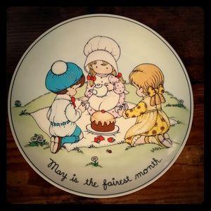 Vintage Joan Walsh May Plate